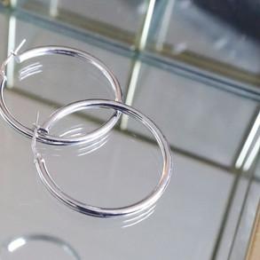 Oro Lungo Silver Rosmolino Hoops