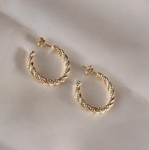 Isadora Hoops Gold Plated