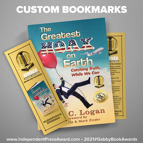 Printed Bookmarks with your book cover