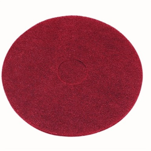 """Red Floor Pad Light Clean Buffing 16"""""""