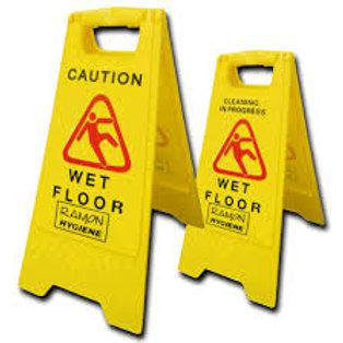 Wet Floor Dual Warning 'A' Frame Sign