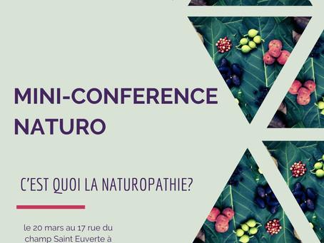 Mini-conférence de naturopathie