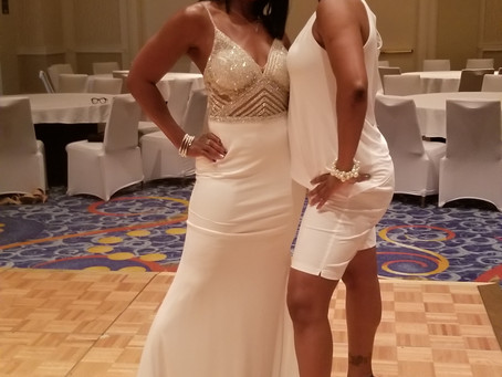 Celebrated my 50th Birthday in a Beautiful Red Carpet Dress