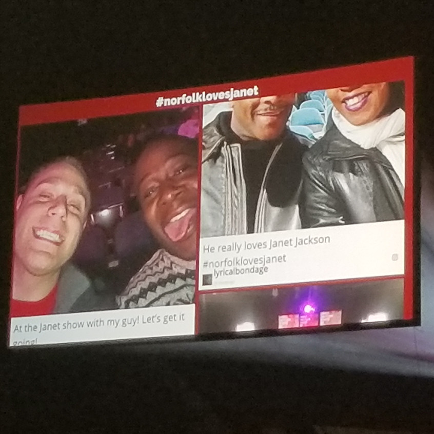 We are up on the big screen