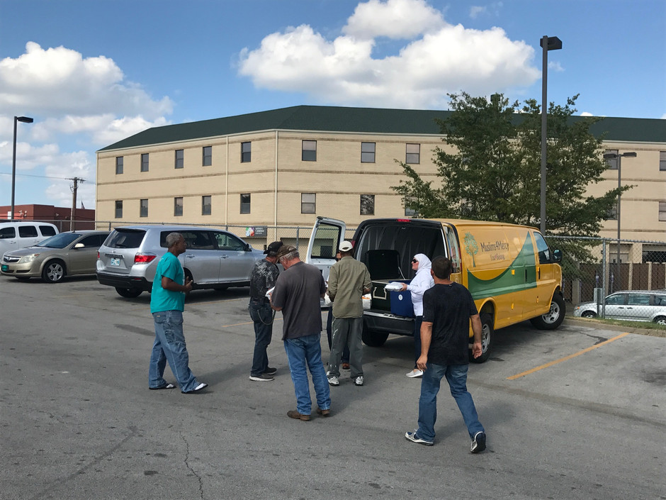 Delivering First Food to Homeless at Tulsa Day Center