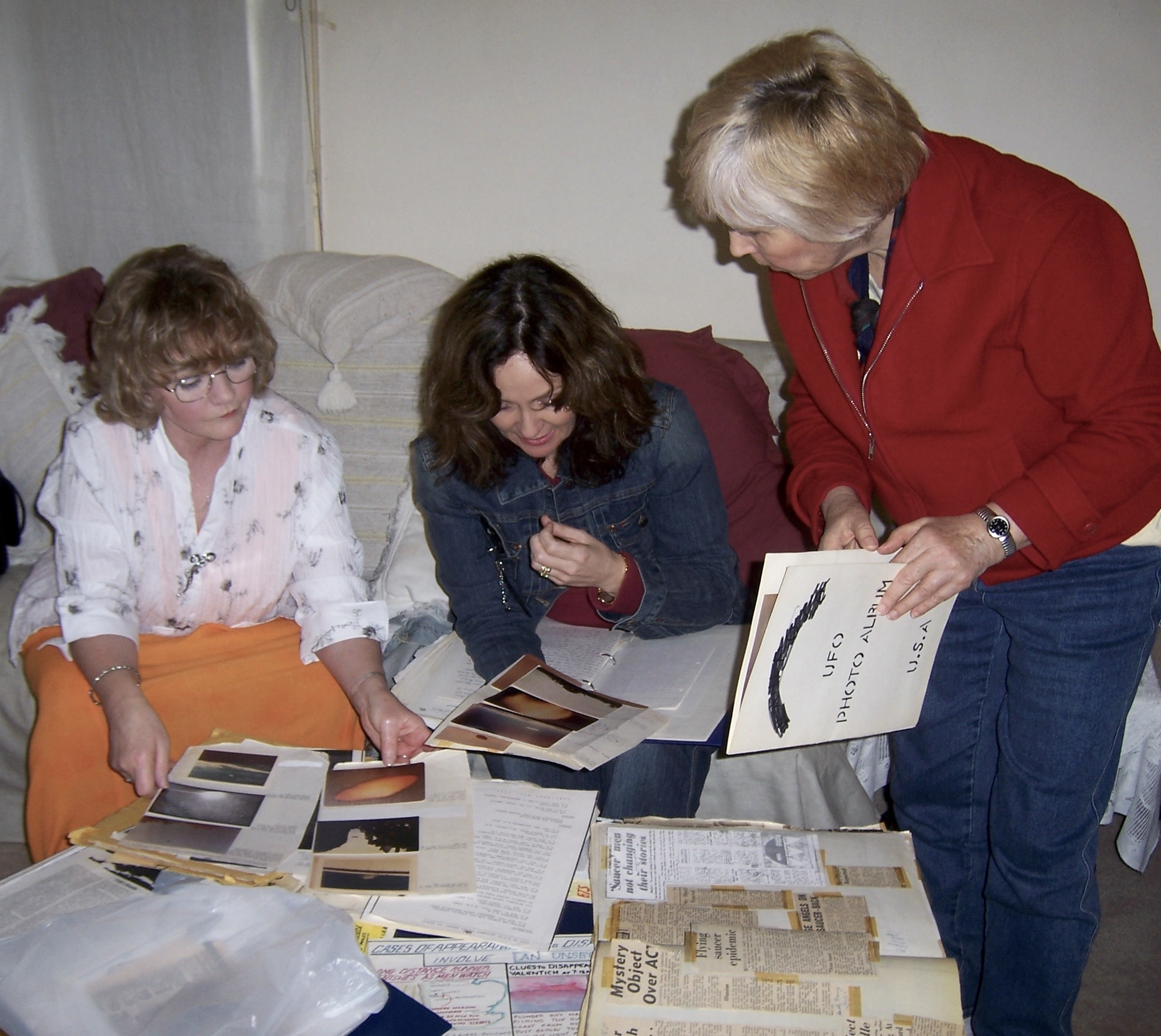 Mary Rodwell with Marie & Karen