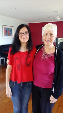 Giada from Italy and Mary Rodwell