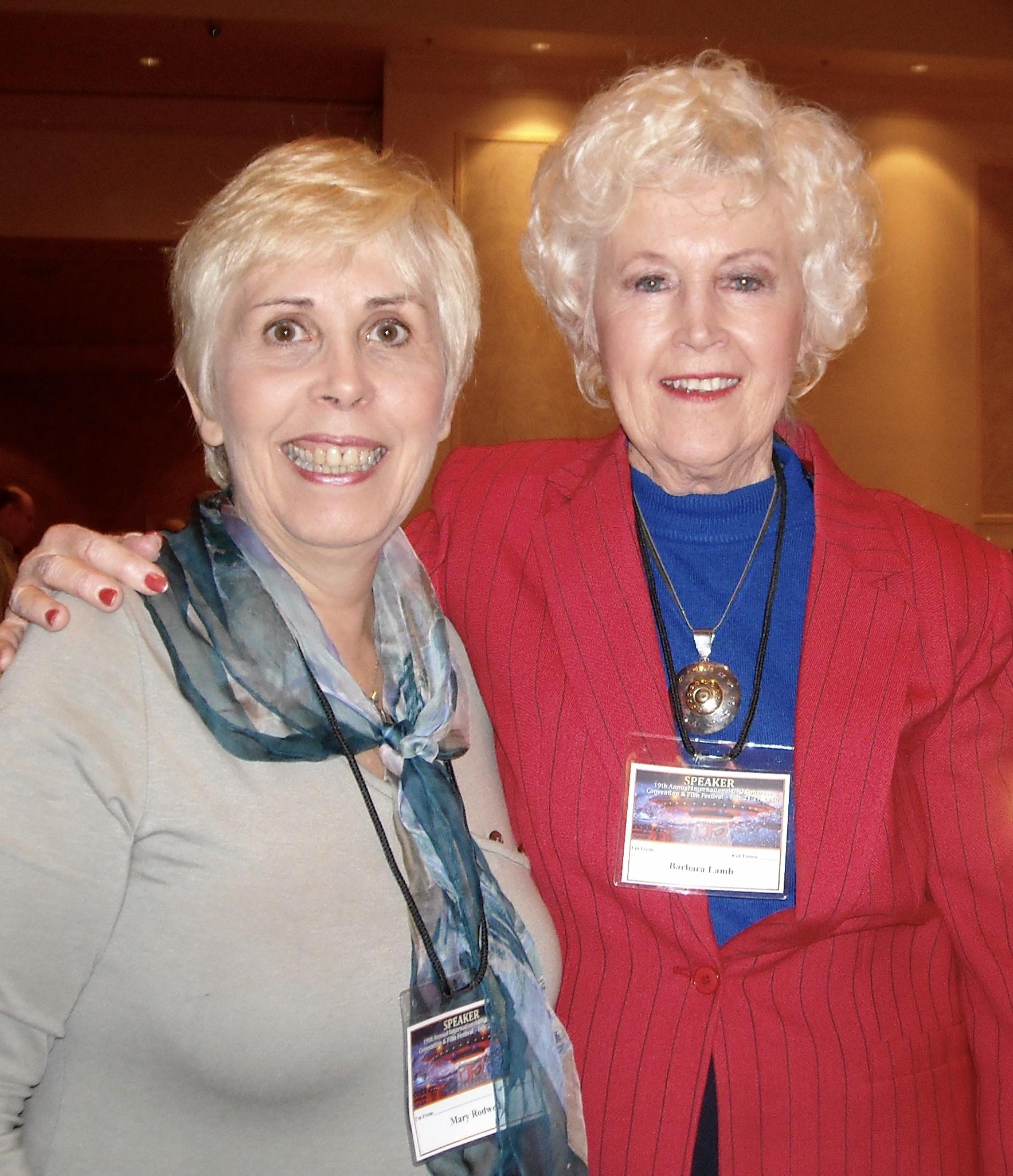 Mary Rodwell and Barbara Lamb