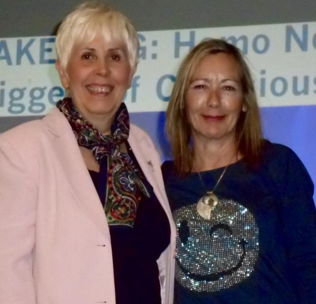 Mary Rodwell with Julie Bedford in Perth