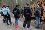 Waldbesitzer Graf Schwerin beantwortet Fragen zur Holzverwendung und zum Holzmarkt.