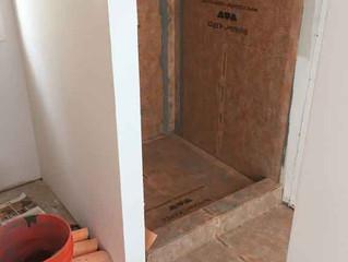 Shower waterproofed