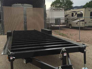 The trailer is level and installed on site
