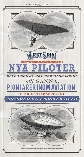©Liseberg // For this poster, I was responsible for the concept, layout and text. Images are sourced, and AeroSpin logo was created by a colleague.