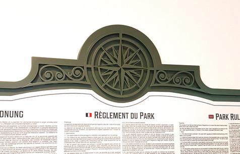Rulantica Park Rules Signage