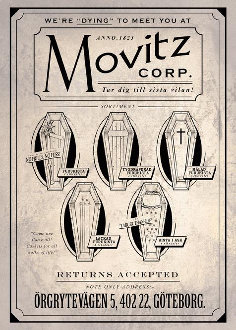 Movitz Corp Coffins Poster
