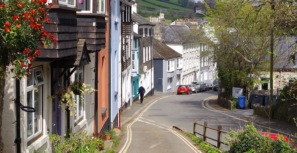 Ashburton - historical rural town on Dartmoor in Devon