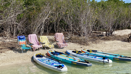 Paddle boards at Mud Keys