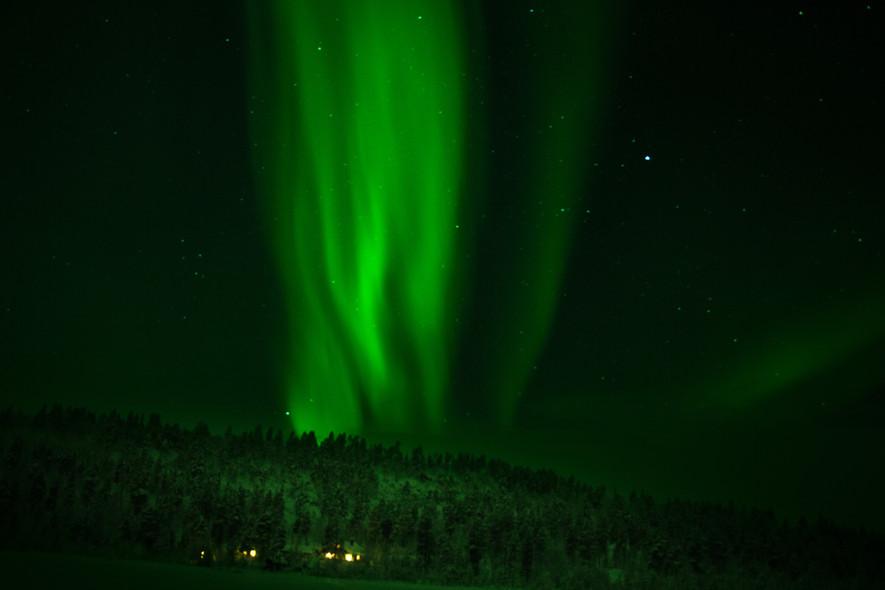 Nordlichter über dem Camp