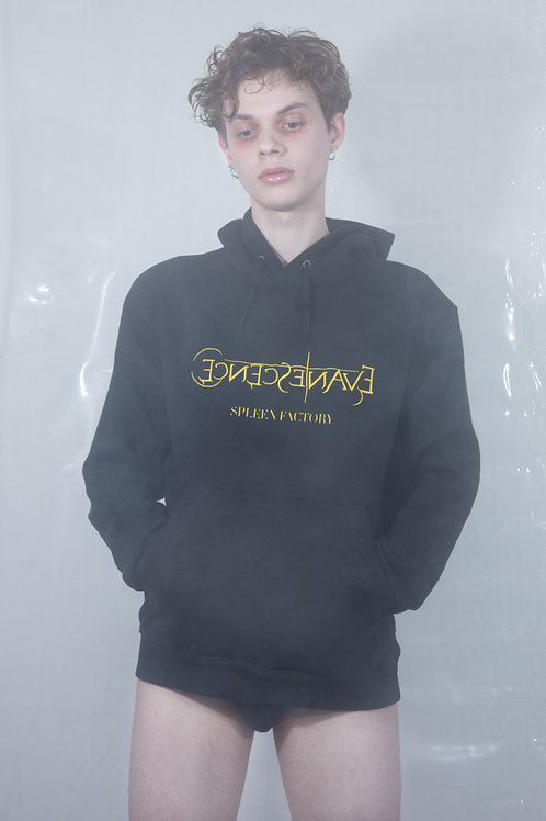 Bring Me To Life Embroidered Hoodie - Black/Yellow