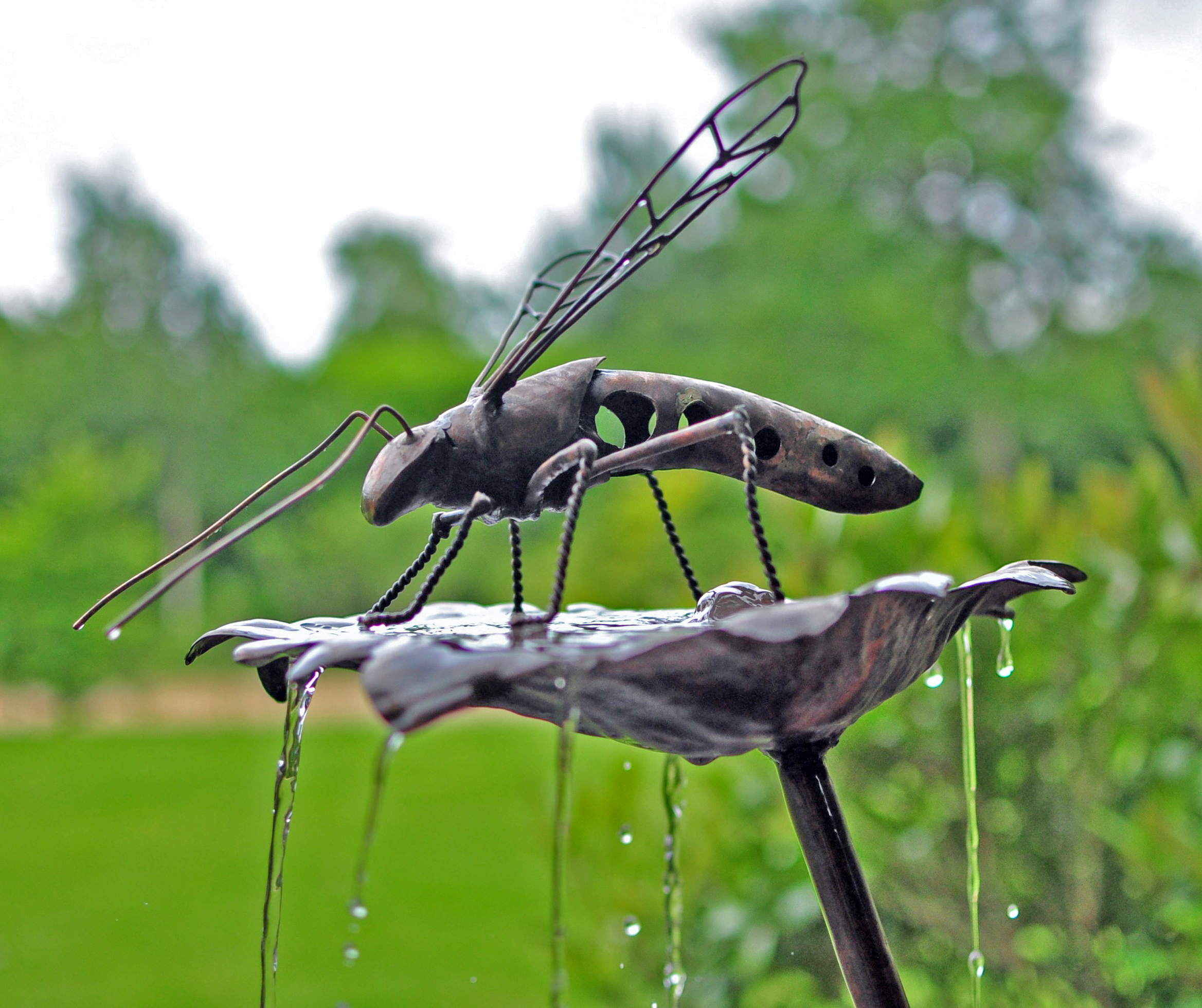 Flying bug water feature