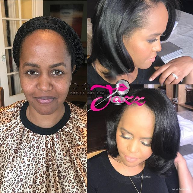#beforeafter on my beautiful newlywed #naturalglam as requested with a little sparkle #Ethiopian #ny