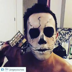#boo 👻💀👽#Halloween #working #yesterday #detailing #makeup #nyc #mua #scary#art #fun #makeupartist