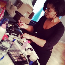 #tbt#Haloween I swear my #clients me #holding out in the #pics me probably searching for a #makeup#b