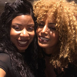 #swipeleft bts #selfiemoments with the gorgeous designer _salomestyles10 and I had the pleasure of d