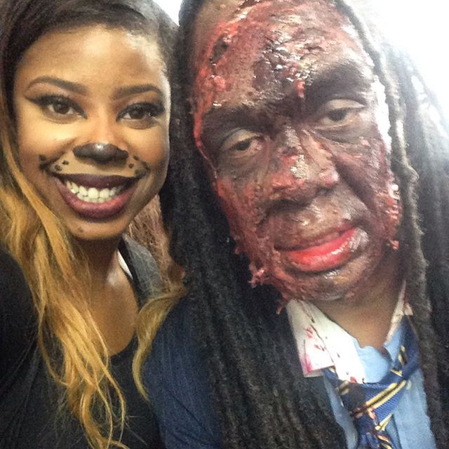 Creepy #face #halloween makeup on #Bk #councilman #halloween2015 #sfx#makeup#nyc#mua #art #blood #ho
