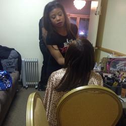 Me#werkin #earlier #hair #makeup#eyes#lips#face#art #behind#the#scenes