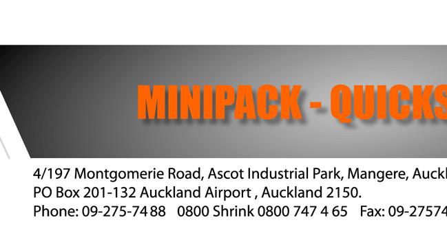Minipack Logo and Web design