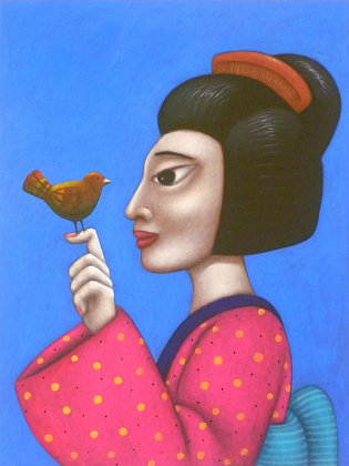 'Geisha and Bird'