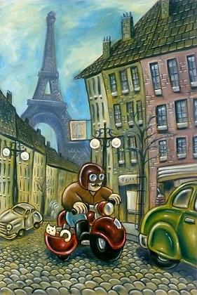 'Rue Pascal' Postcard