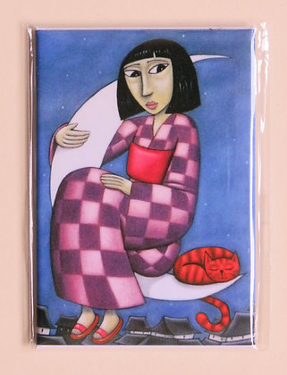 'Moon Girl' magnet