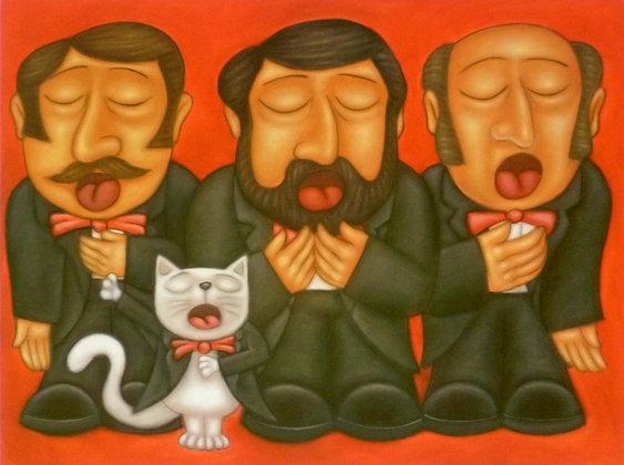 'The 4 Tenors' Postcard
