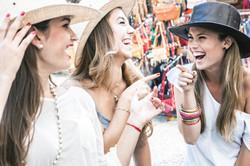 girls wearing hats