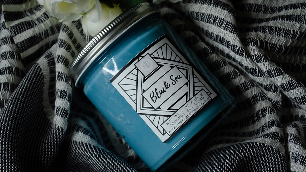 Black Sea- Wooden Wick Candle