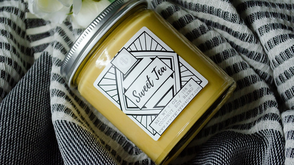 Sweet Tea- Wooden Wick Candle