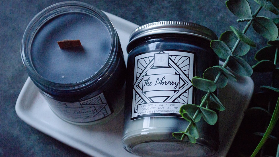The Library Wooden Wick Candle