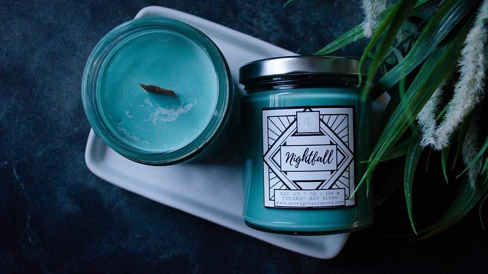 Nightfall Wooden Wick Candle