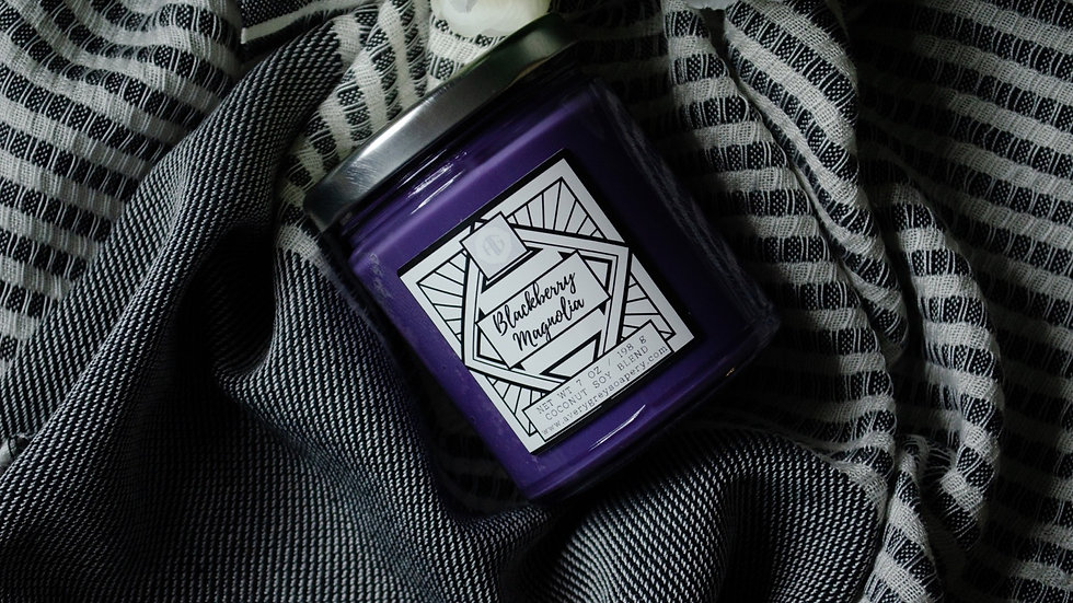 Blackberry Magnolia- Wooden Wick Candle
