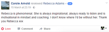Carole Arnold testimonial Rebecca Adams