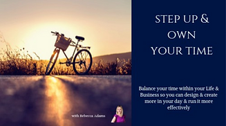Step Up and Own Your Time Program Rebecc