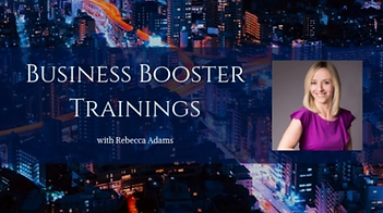 Business Booster Trainings Rebecca Adams