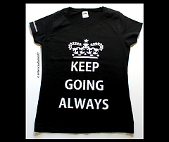 Keep Going Always Crown Tshirt.png