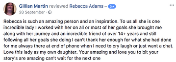 Gillian Martin testimonial Rebecca Adams
