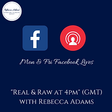 Facebook Live Real and Raw at 4 Rebecca