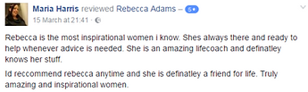 Maria Harris testimonial Rebecca Adams m