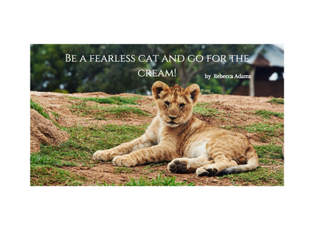 Be a Fearless cat and go for the cream!