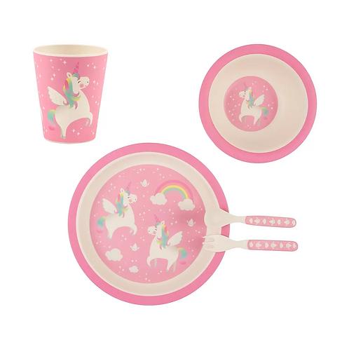 Rainbow Unicorn Tablewear Set